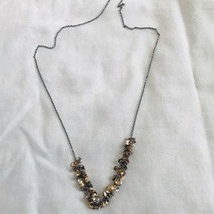 Multi- Metal Circle necklace by Old Navy